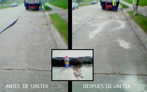 antes y despues de Uretek